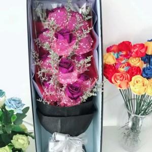 水晶玫瑰11朵