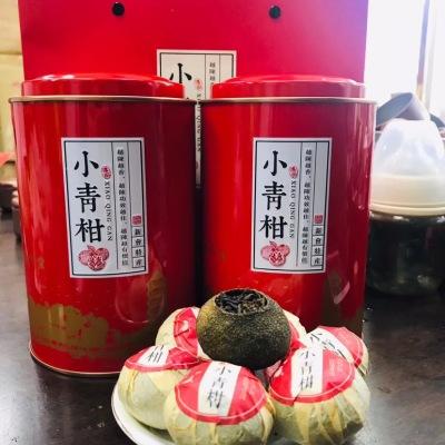 新会陈皮普洱茶熟茶小青柑柑普茶,宫廷熟茶一斤两罐