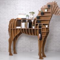 超大骏马书架置物架动物造型新款个性家具服装店落地创意摆件包邮