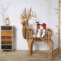 公麋鹿动物造型书架摆件置物架创意家居客厅样板房橱窗木网红款