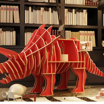 创意三角龙动物置物书架大师设计样板间工作室装饰橱窗木落地摆件