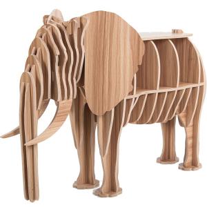 仿真大象书架拼接组装置物架收纳盒新款家居饰品创意摆件工艺品