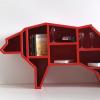 北极熊动物置物书架创意墙体立柜工艺品书房样板间幼儿园落地摆件