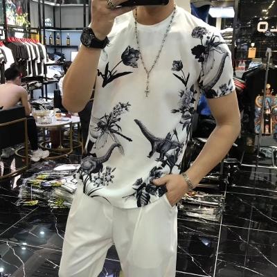 2019男士夏季短袖t恤 高端丝光品质优胖子上衣最大可穿到210斤