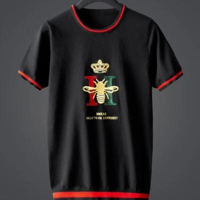Dolce&Gabbana杜嘉班纳2019新款男士针织毛衣短袖冰丝t恤