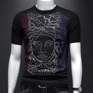 欧洲站男针织短袖毛衣杜嘉班纳‼️2019新款冰丝t恤上衣潮牌