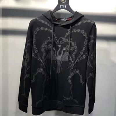 欧洲站2019带帽卫衣进口毛圈棉面料重工刺绣男士长袖卫衣